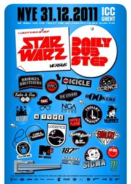 Affiche Star Warz vs Daily Dubstep