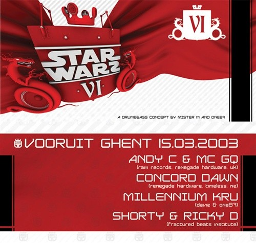 Star Warz VI - Sat 15-03-03, Kunstencentrum Vooruit