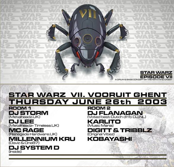 Star Warz VII - Thu 26-06-03, Kunstencentrum Vooruit
