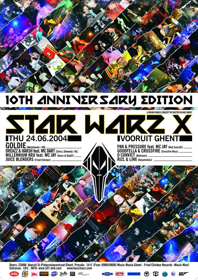 Star Warz X - Thu 24-06-04, Kunstencentrum Vooruit