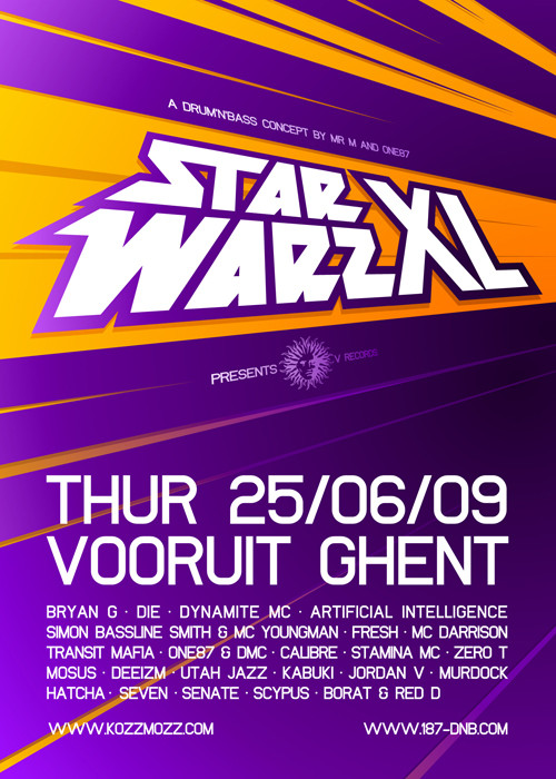 Star Warz XL - Thu 25-06-09, Kunstencentrum Vooruit