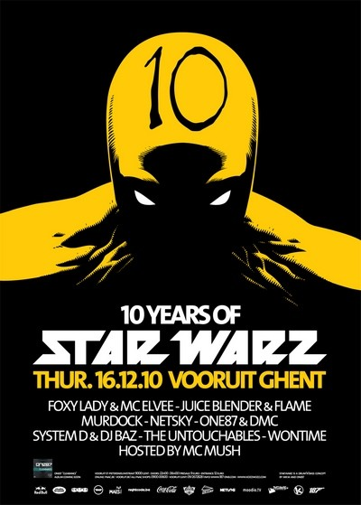 10 Years Star Warz - Thu 16-12-10, Kunstencentrum Vooruit
