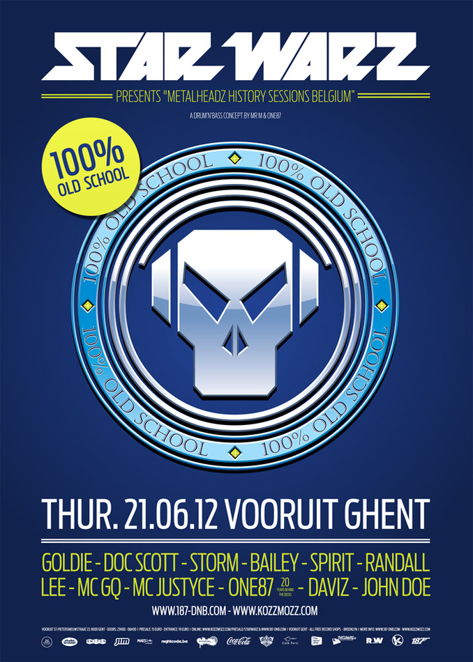 Star Warz presents Metalheadz History Sessions Belgium - Thu 21-06-12, Kunstencentrum Vooruit