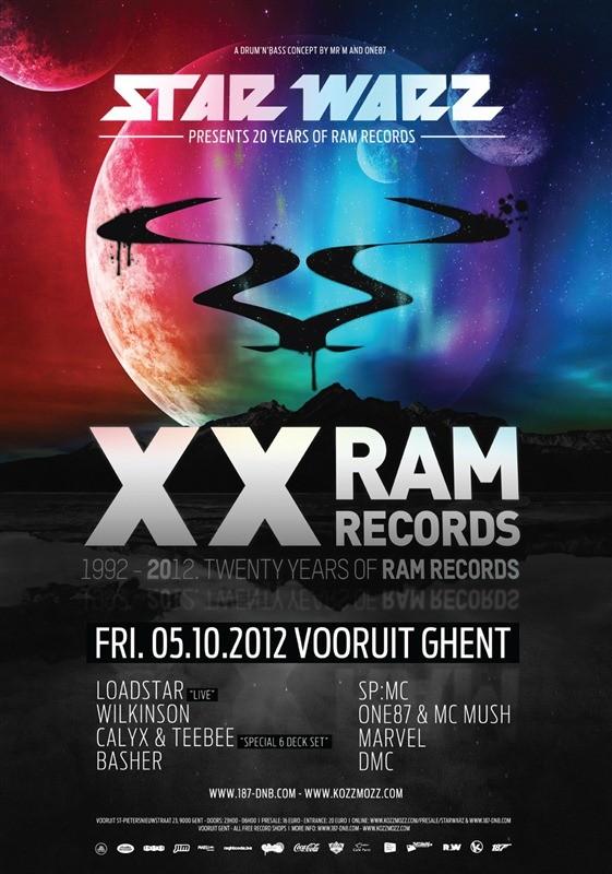 Star Warz presents 20 Years of Ram Records - Fri 05-10-12, Kunstencentrum Vooruit