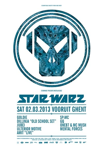 Star Warz presents Metalheadz - Sat 02-03-13, Kunstencentrum Vooruit