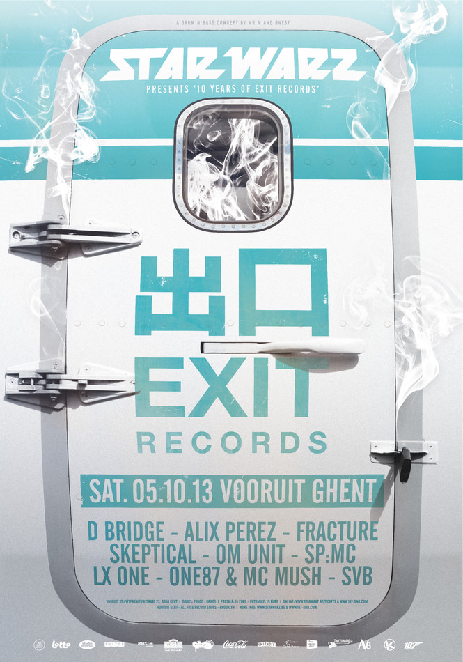 Star Warz presents 10 Years of Exit Records - Sat 05-10-13, Kunstencentrum Vooruit