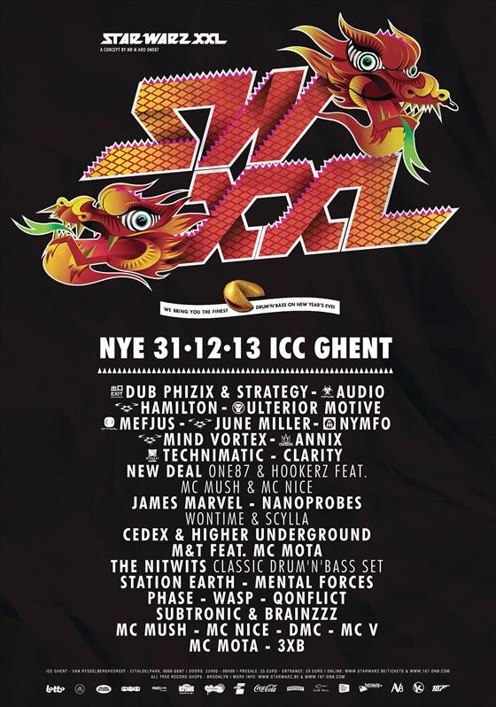 NYE 2013 : Star Warz XXL - Tue 31-12-13, ICC Ghent