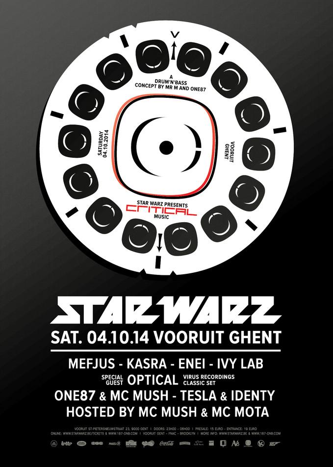 Star Warz presents Critical Music - Sat 04-10-14, Kunstencentrum Vooruit