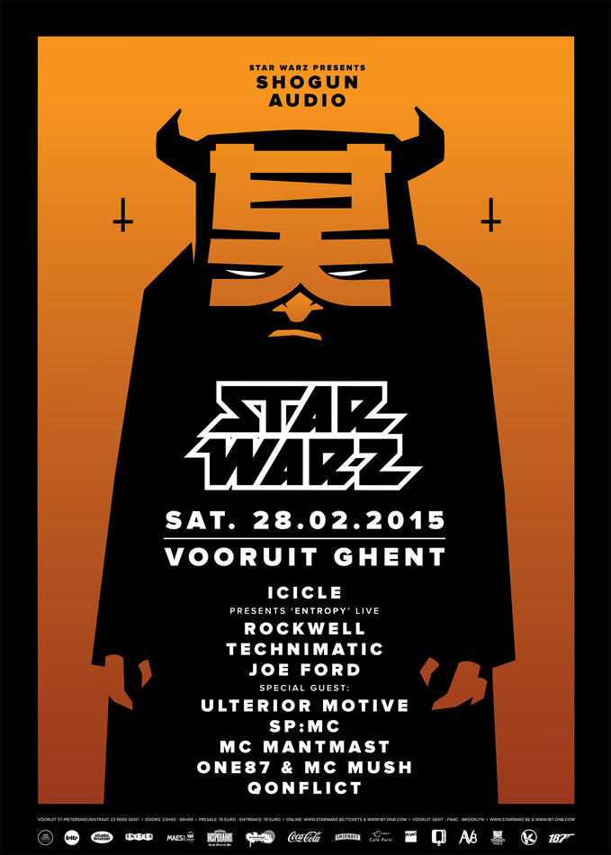 Star Warz presents Shogun Audio - Sat 28-02-15, Kunstencentrum Vooruit