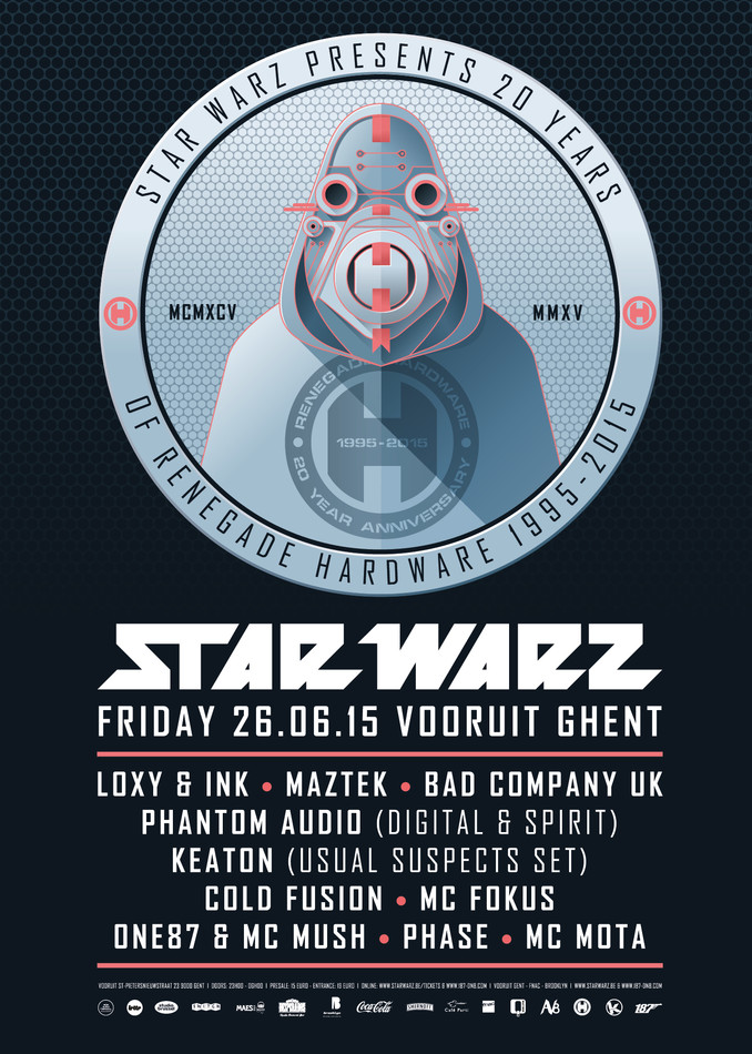Star Warz presents 20 Years of Renegade Hardware - Fri 26-06-15, Kunstencentrum Vooruit