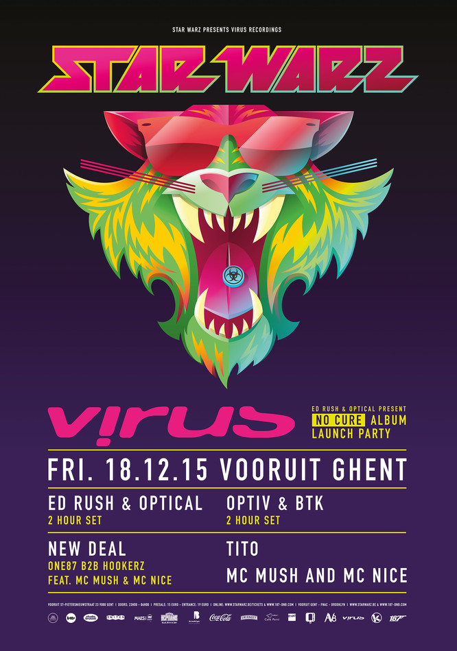 Star Warz presents Virus Recordings - Fri 18-12-15, Kunstencentrum Vooruit