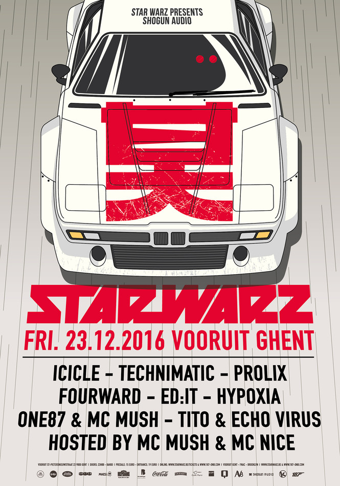 Star Warz presents Shogun Audio - Fri 23-12-16, Kunstencentrum Vooruit