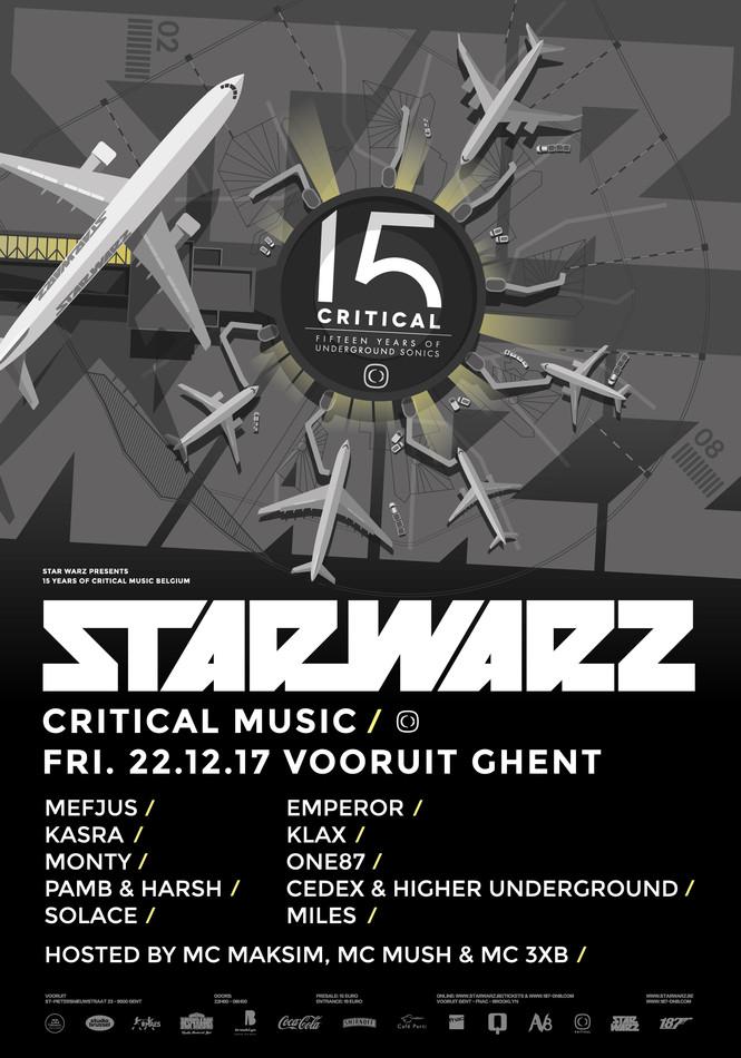 Star Warz presents 15 Years of Critical Music - Fri 22-12-17, Kunstencentrum Vooruit