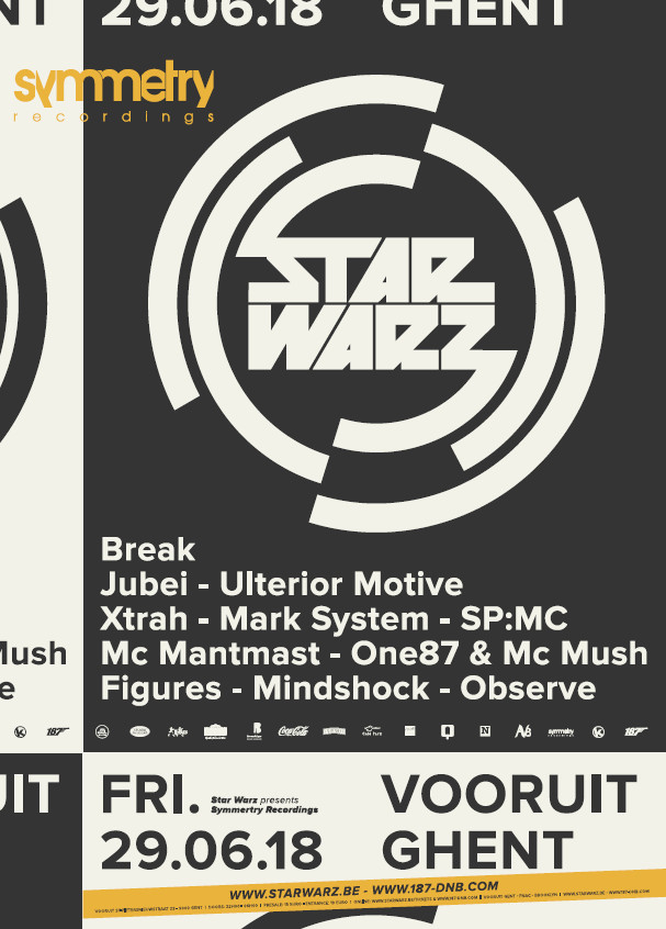 Star Warz presents Symmetry Recordings - Fri 29-06-18, Kunstencentrum Vooruit