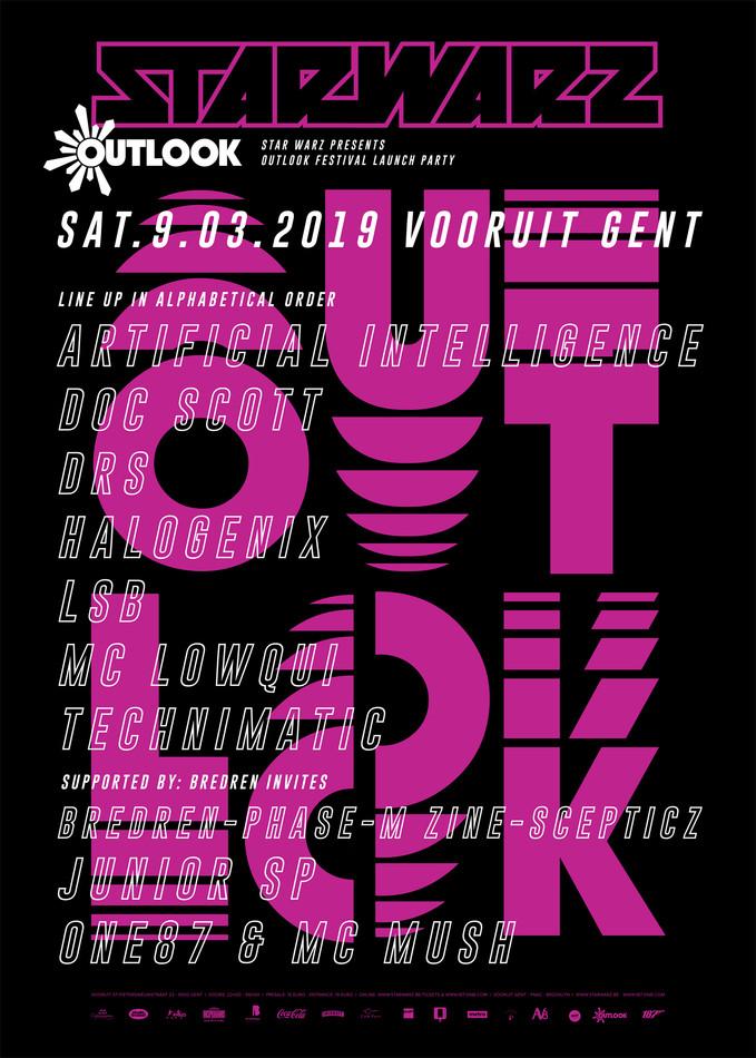 Star Warz presents Outlook Festival Launch Party - Sat 09-03-19, Kunstencentrum Vooruit