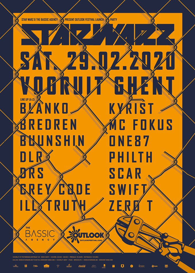 Bassic Agency X Outlook Festival Launch - Sat 29-02-20, Kunstencentrum Vooruit