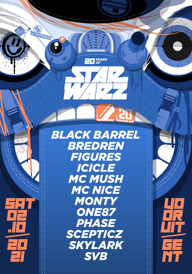 Star Warz Returns - Sat 02-10-21, Kunstencentrum Vooruit