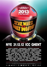 Affiche Star Warz vs Daily Dubstep NYE 2012