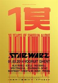 Affiche Star Warz presents 10 Years of Shogun Audio