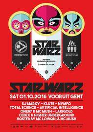 Affiche  Star Warz presents Innerground X Commercial Suicide